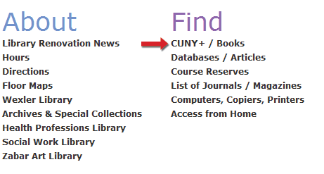 Search for a book by title | Hunter College Libraries