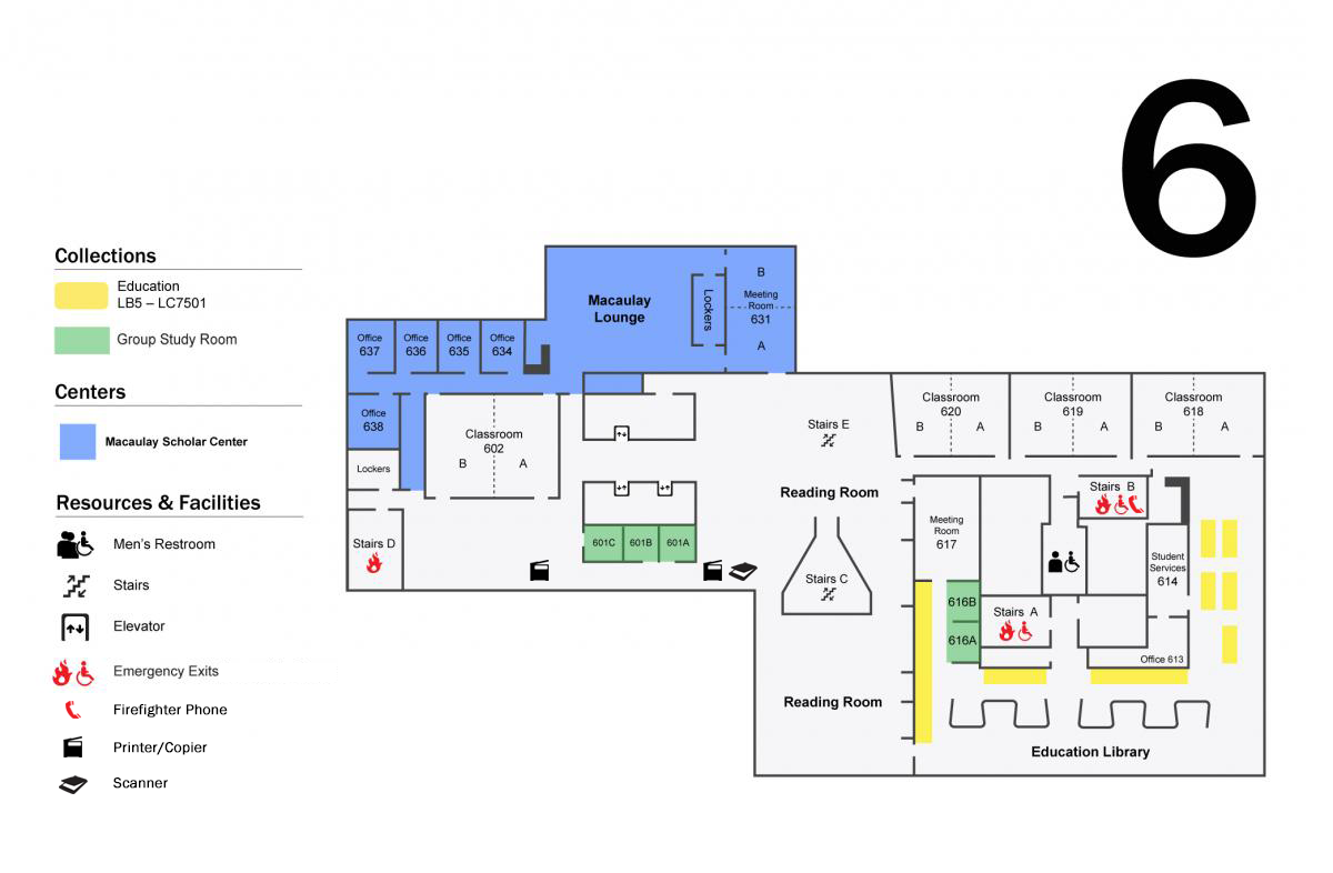 Leon And Toby Cooperman Floor Plans Hunter College Libraries