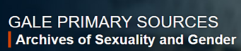 header for Gale Primary Sources Archives of Sexuality & Gender database