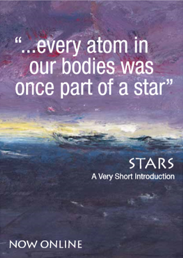 "image of quote stating ""every atom in our bodies was once part of a star"" from Stars: A Very Short Introduction"
