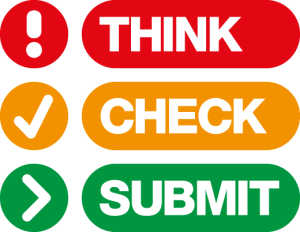 think, check, submit